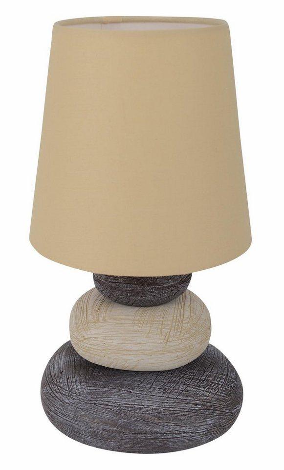 n ve tischleuchte 1 flammig mit keramikfu und textilschirm online kaufen otto. Black Bedroom Furniture Sets. Home Design Ideas