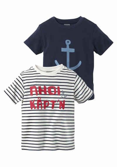 f7e383f442ff5d KIDSWORLD T-Shirt »AHOI KÄPT N« (Packung