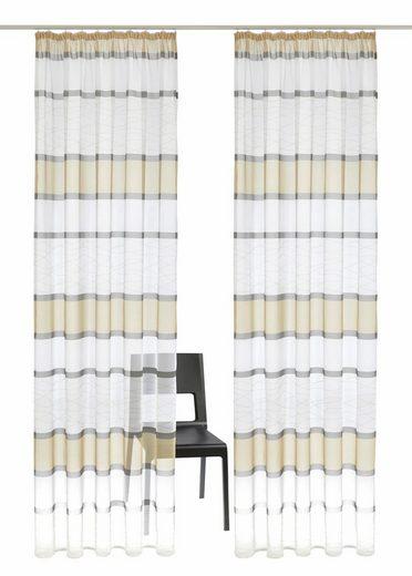 Gardine »Jay«, my home, Kräuselband (2 Stück), Vorhang, Fertiggardine, transparent