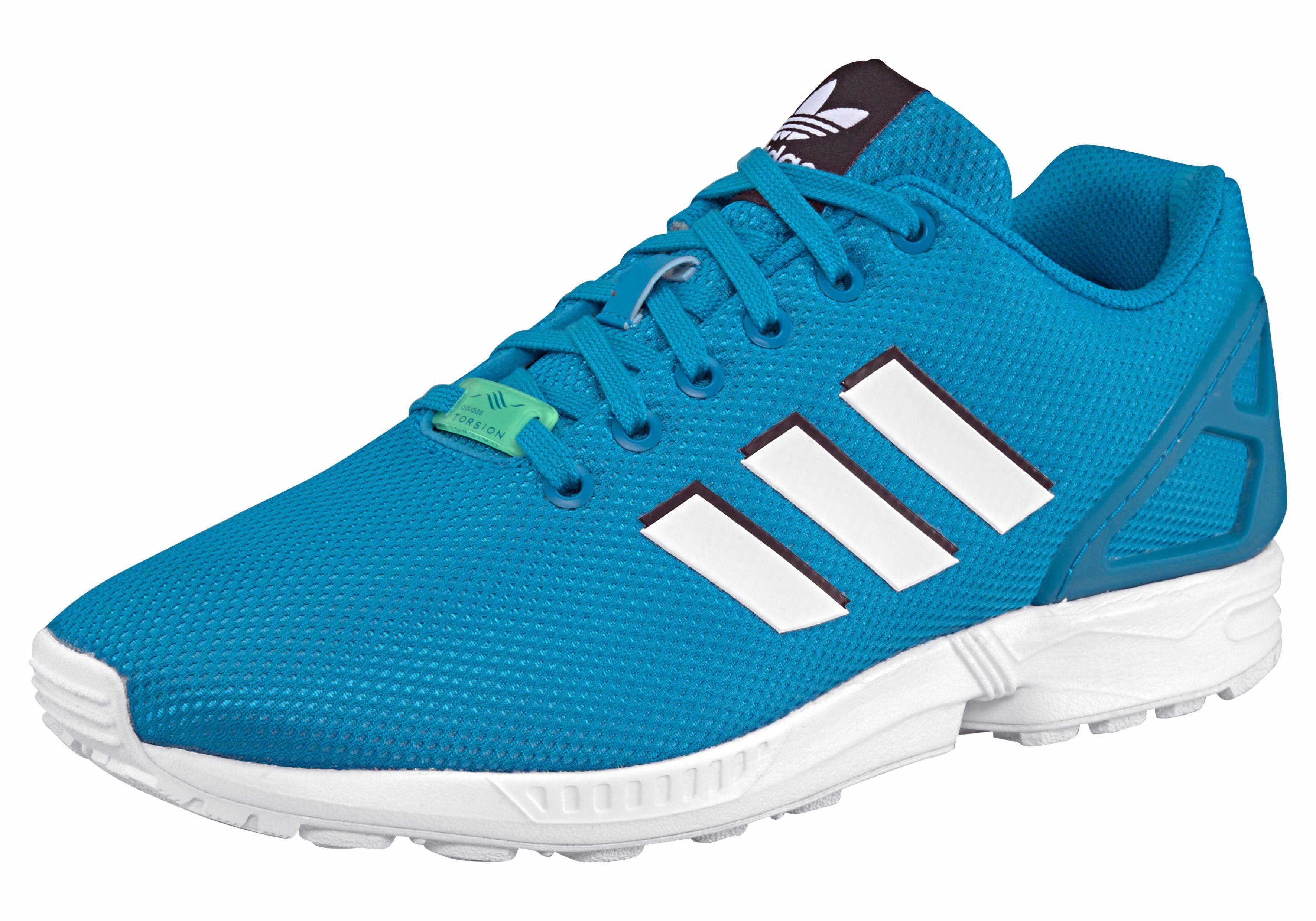 adidas Originals ZX Flux Sneaker, Seasonal  türkis-weiß