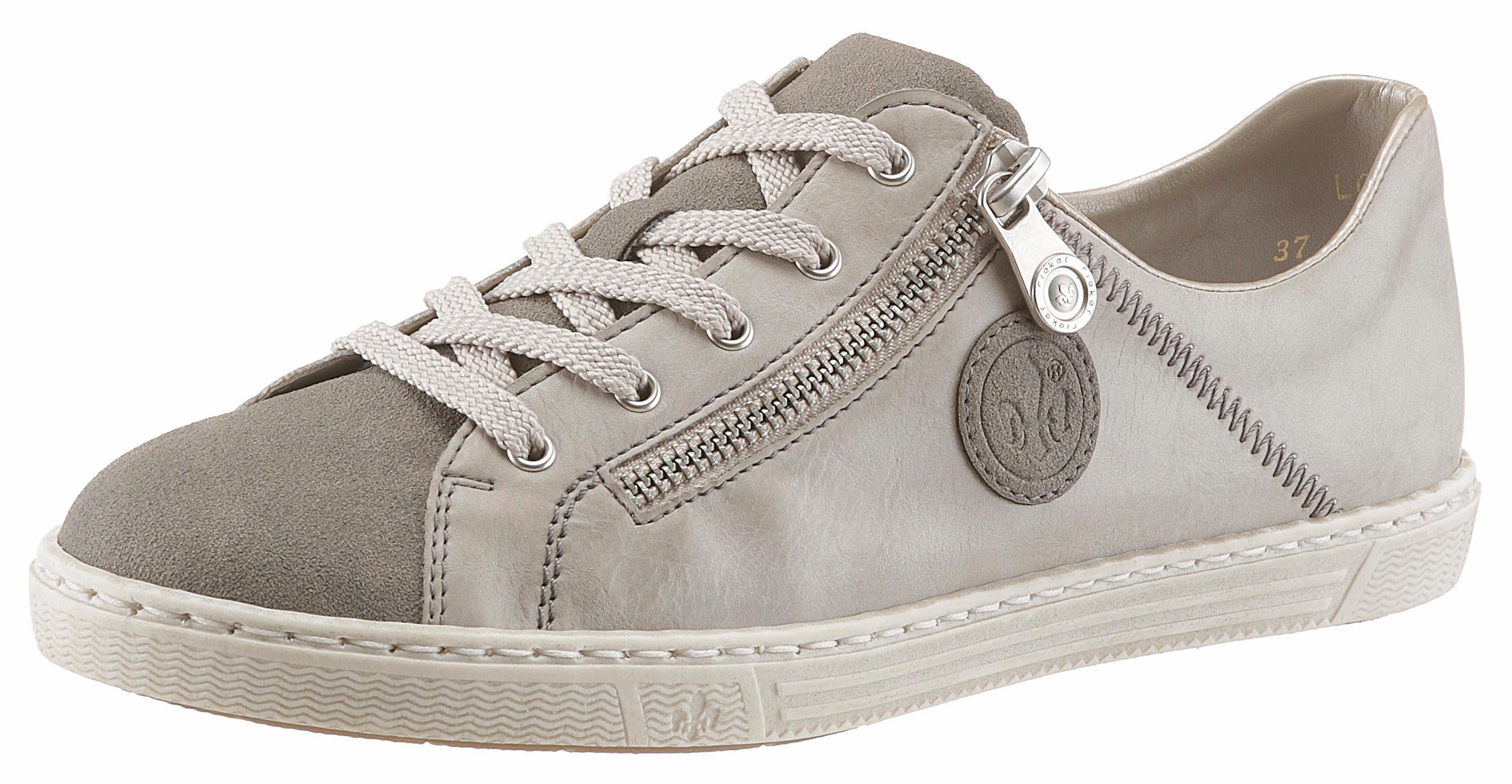 Rieker Sneaker, seitlich mit Metallic verziert, blau, 40 40