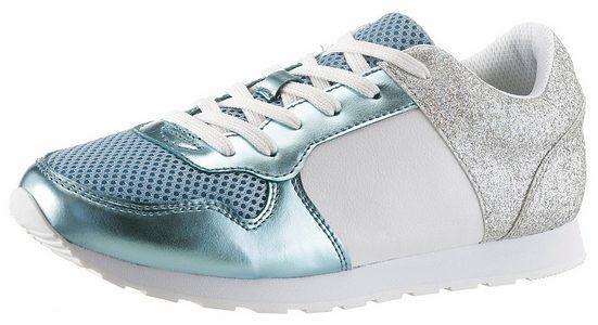 CITY WALK Sneaker, mit Metallic-Einsatz und Glitter-Details