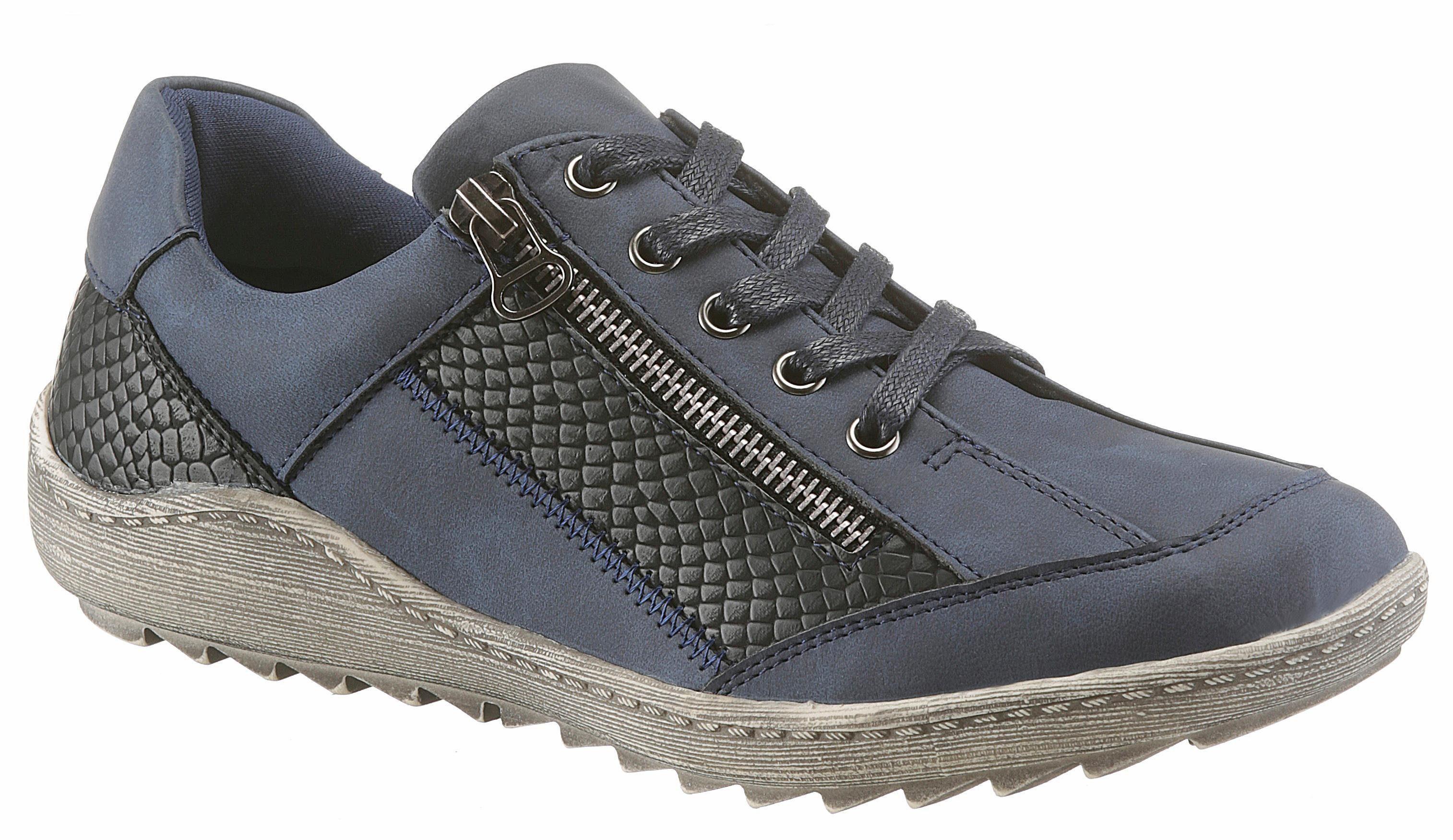 CITY WALK Sneaker, mit Reptilienprägung, blau, 36 36