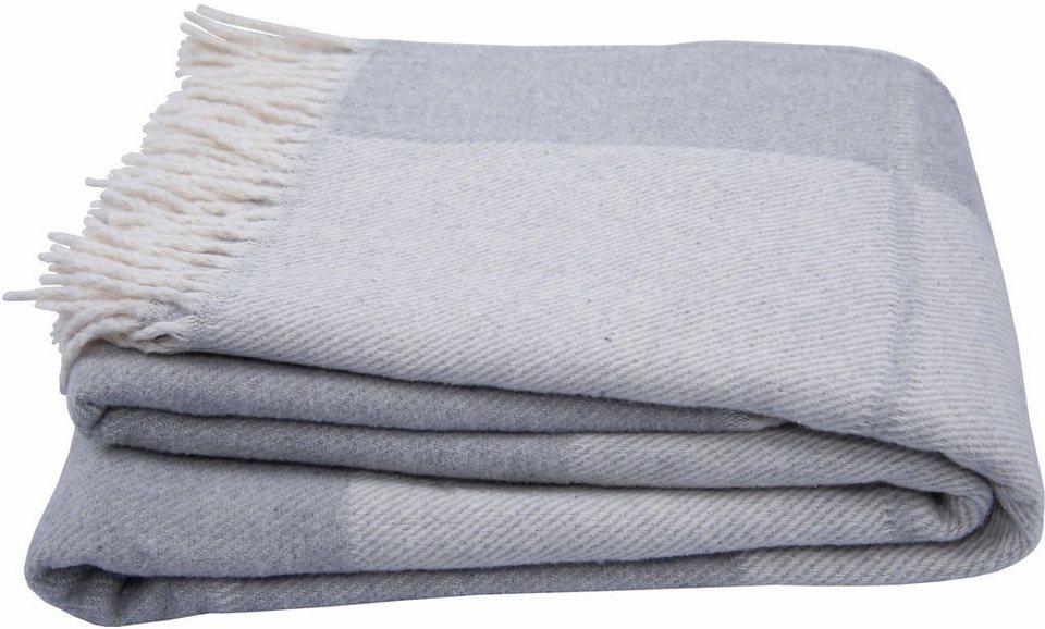 Wohndecke Soft Wool Check Tom Tailor Mit Fransen Online Kaufen Otto