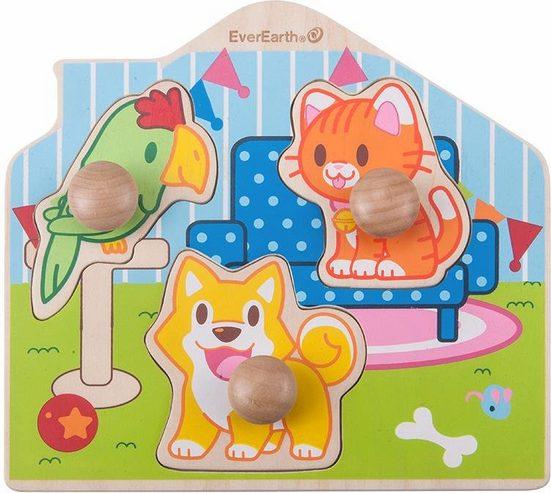 EverEarth® Puzzle »Puzzle - Haustiere«, 3 Puzzleteile