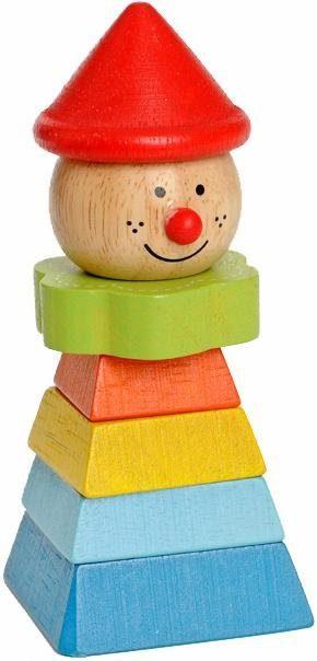 EverEarth® Holzspielzeug, »Clown mit rotem Hut«
