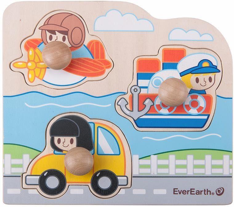 EverEarth® Holzspielzeug, »Puzzle - Verkehrsmittel«