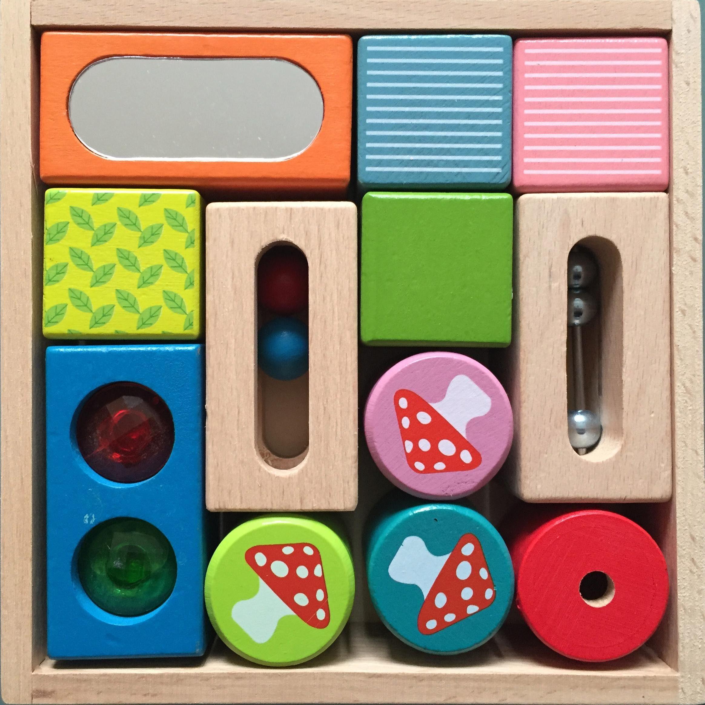 EverEarth® Holzspielzeug, »Entdecker-Bauklötze«