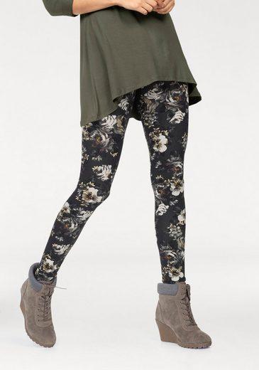 Boysen's Leggings mit Blumen-Druck