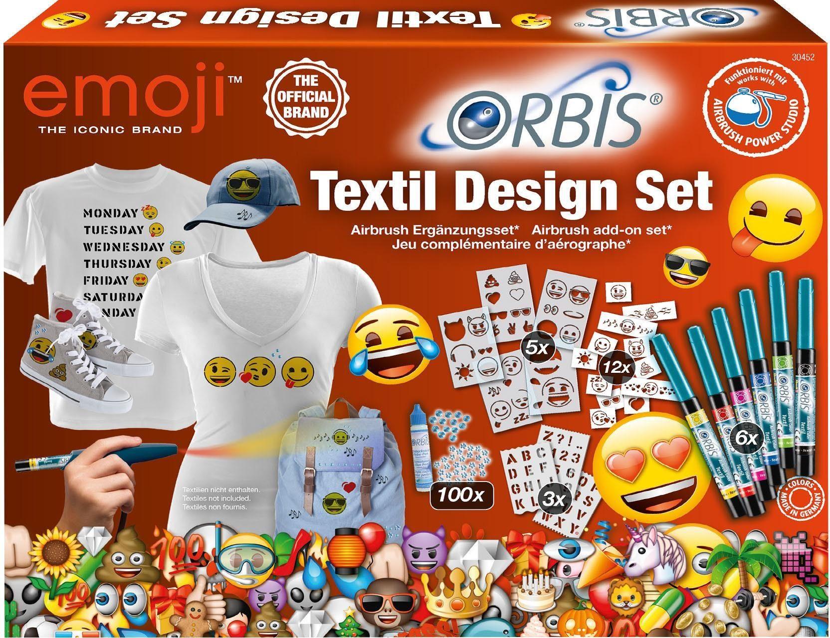 Revell Airbrush Ergänzungsset, »Orbis Textil Design Set Emoji«