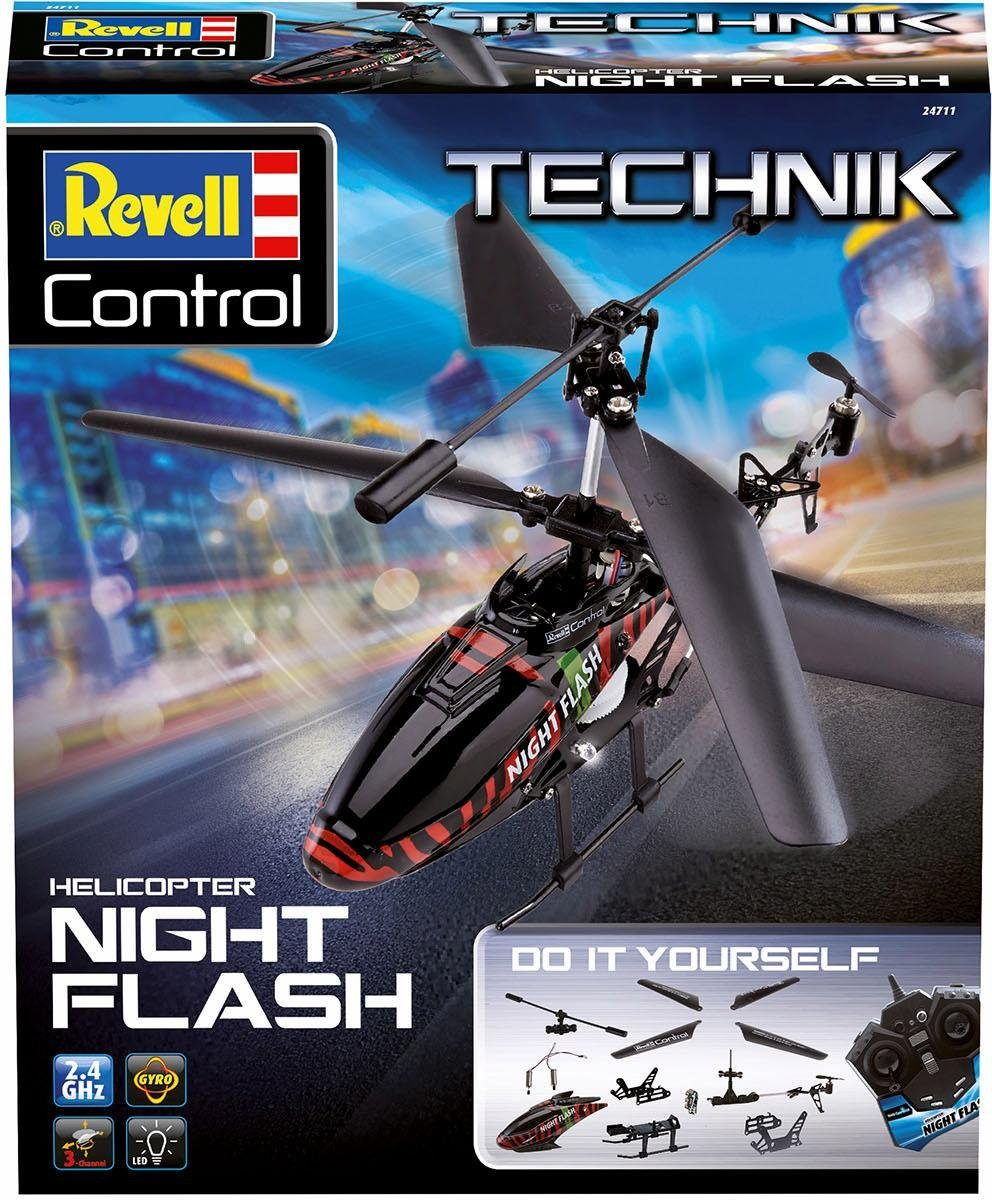 Revell RC Hubschrauber Bausatz, »RC Construction Kit Helicopter Night Flash, 2,4 GHz«