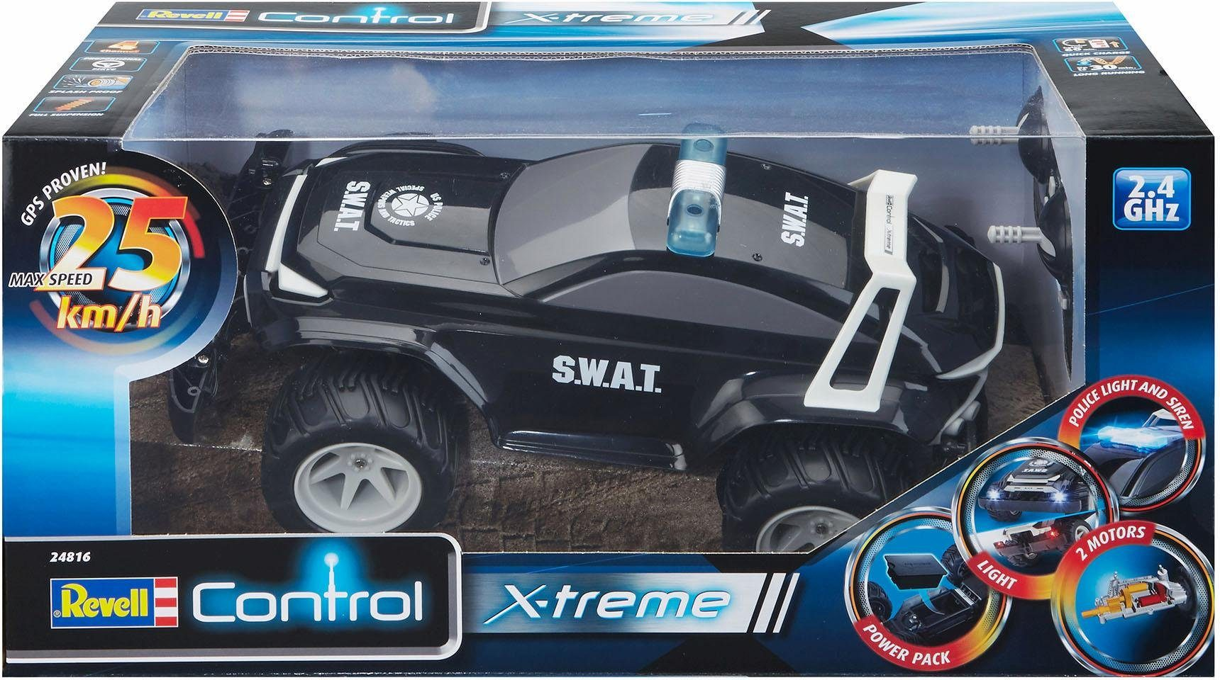 Revell RC Auto mit LED, »Revell® control, X-treme Car SUV S.W.A.T., 2,4 GHz«