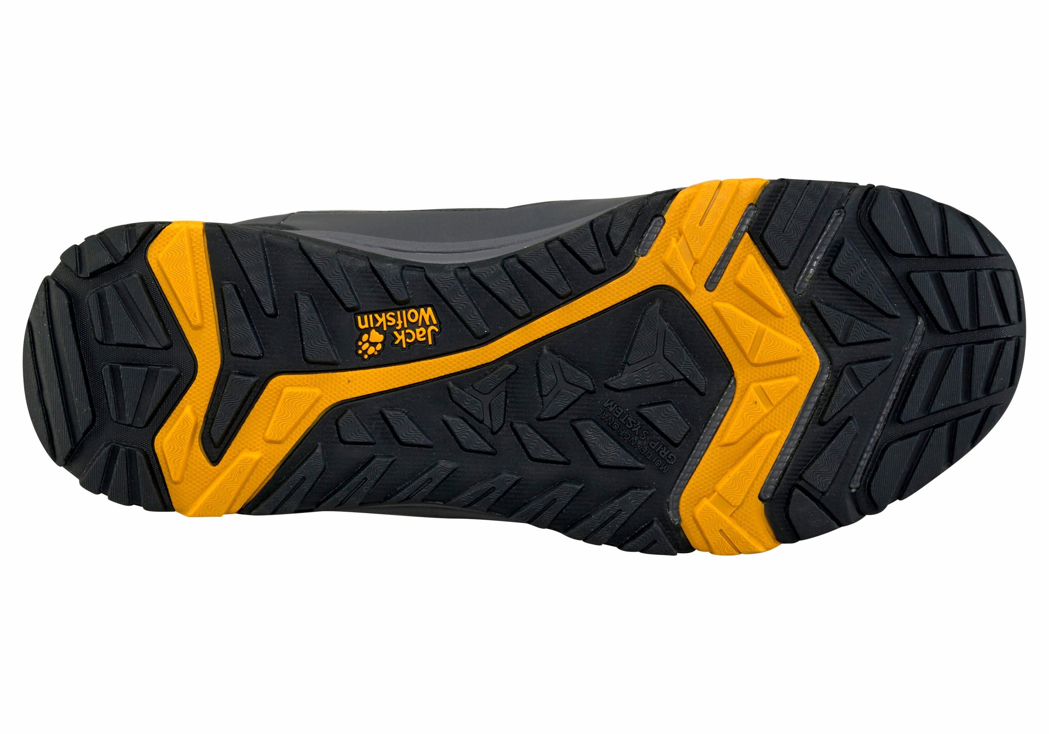 Jack Wolfskin Activate Texapore Mid M Outdoorschuh online kaufen  grau-gelb