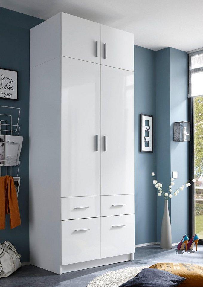 kleiderschrank mit aufsatz und schubk sten kaufen otto. Black Bedroom Furniture Sets. Home Design Ideas