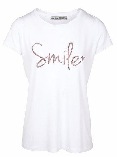 heine TIMELESS T-Shirt mit Smile-Schriftzug