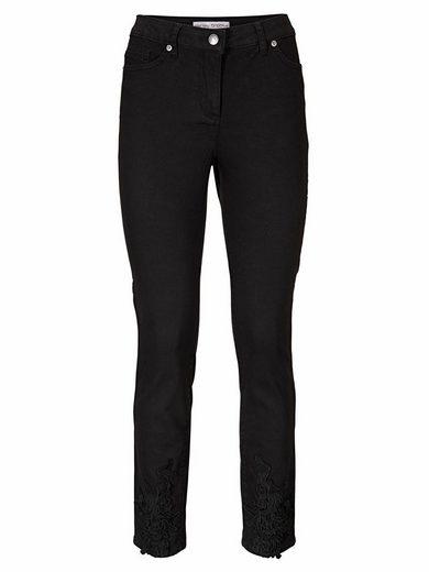 ASHLEY BROOKE by Heine Bodyform-Jeans mit Spitzenapplikation