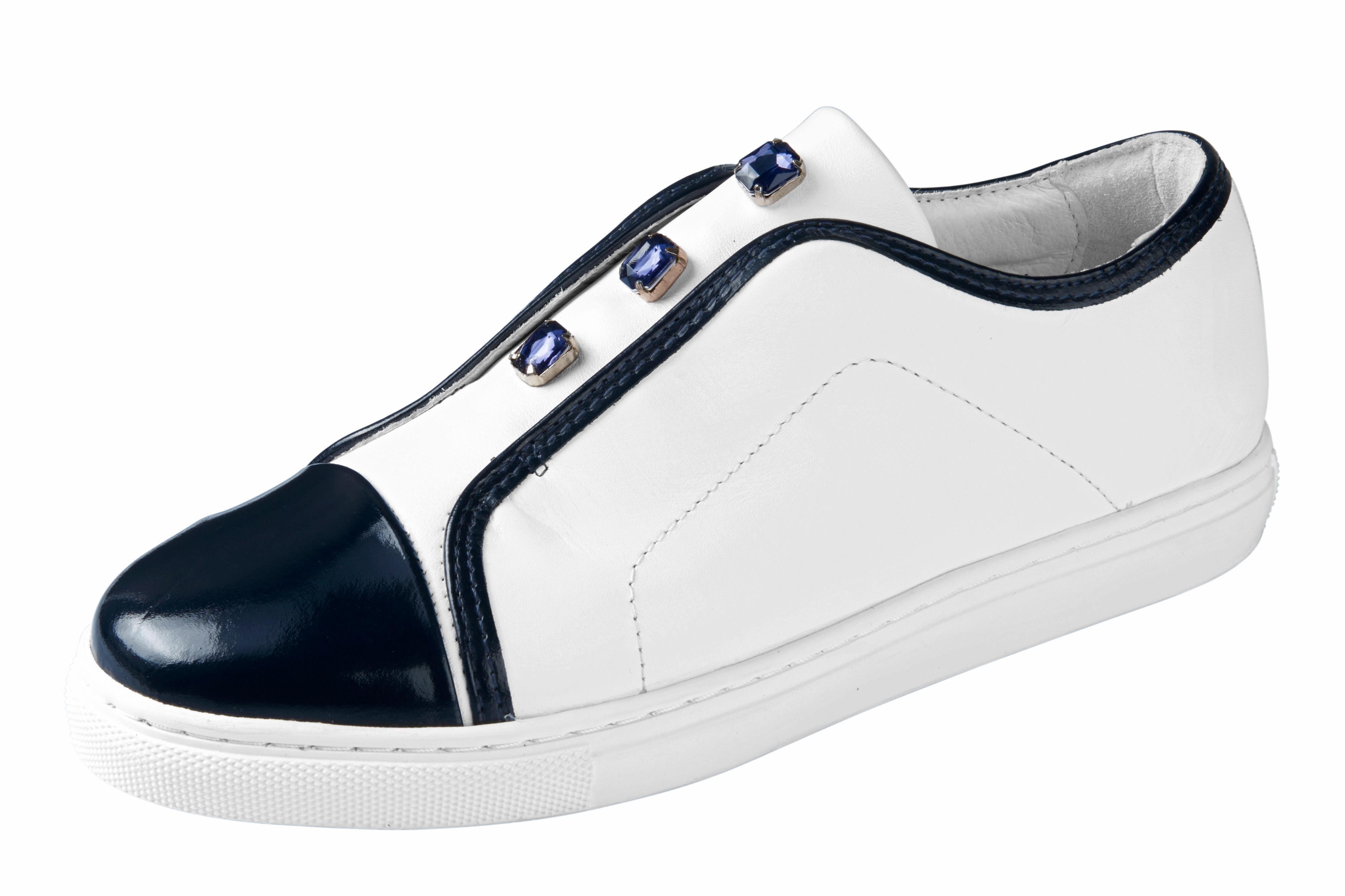 Heine Sneaker mit Schmucksteinen online kaufen  weiß#ft5_slash#marine
