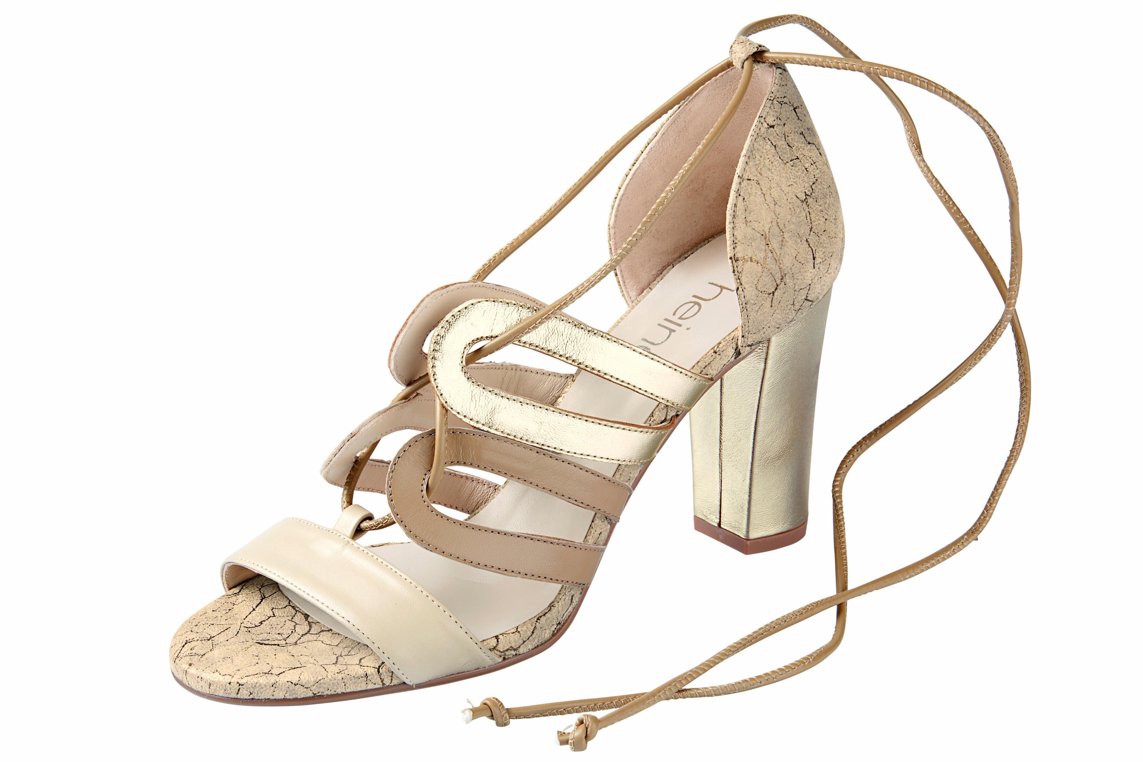 Heine Sandalette mit trendiger Schnürung kaufen  taupe#ft5_slash#goldfarben