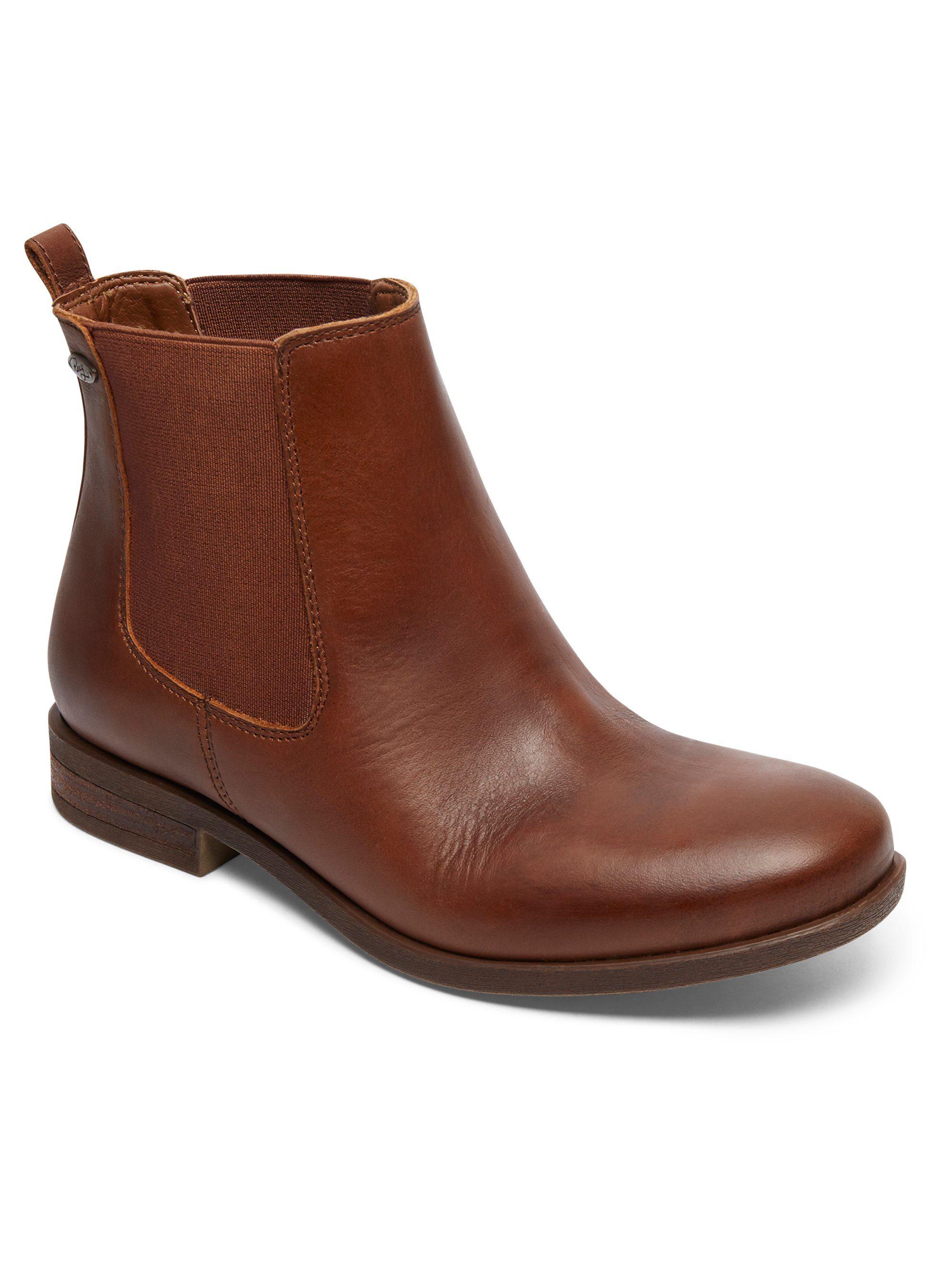 Roxy Leder Chelsea Stiefel Diaz online kaufen  Dark brown