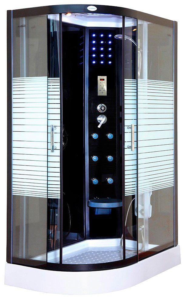 Dampfdusche »Black Pearl 120x80 cm links mit Dampf«