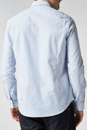 Next Langärmeliges Hemd mit feinem Streifenmuster