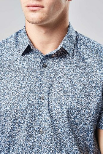 Next Short-sleeved Shirt With Stray Floret Pressure