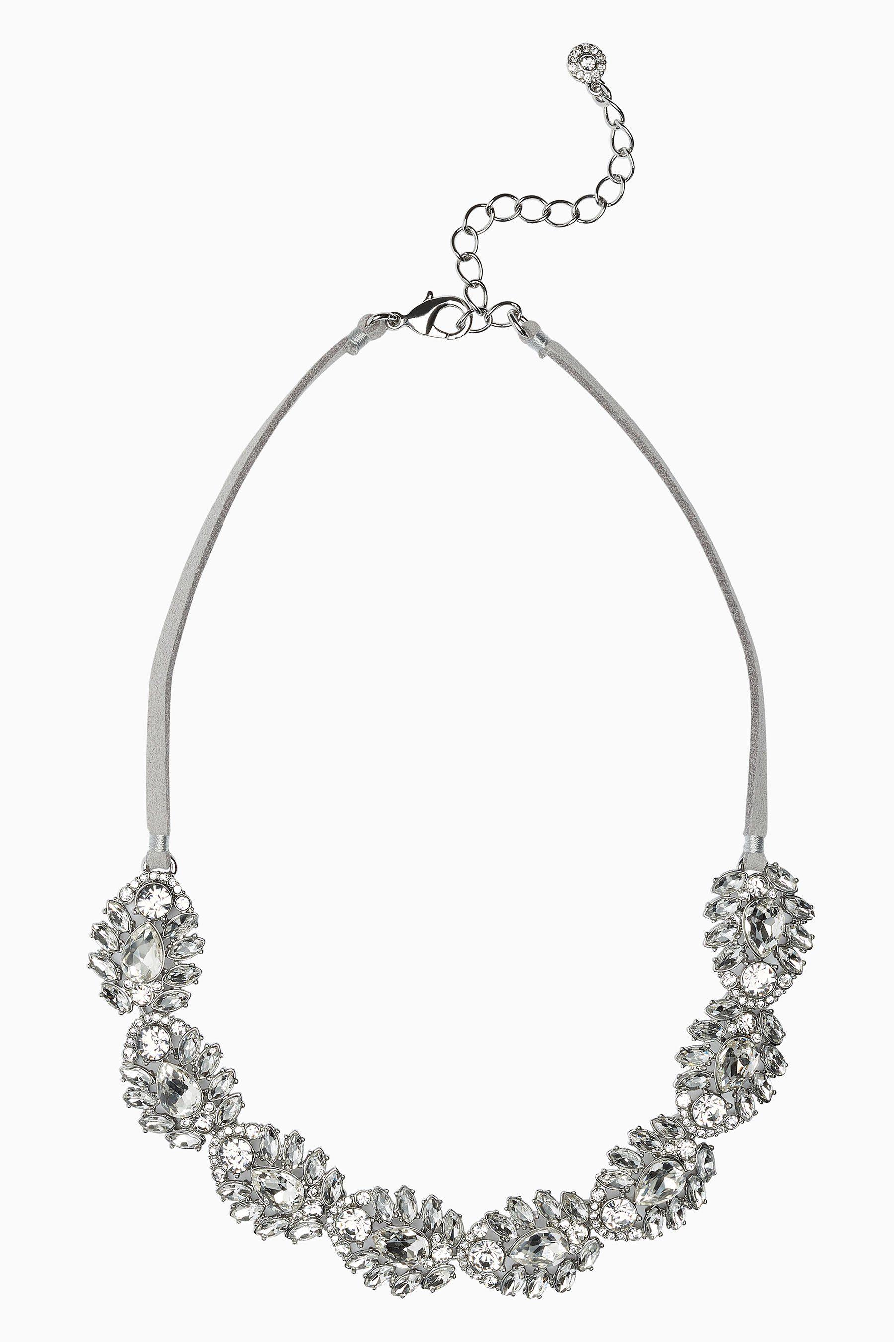 Next Halskette in Kristalloptik mit Kordeldetail