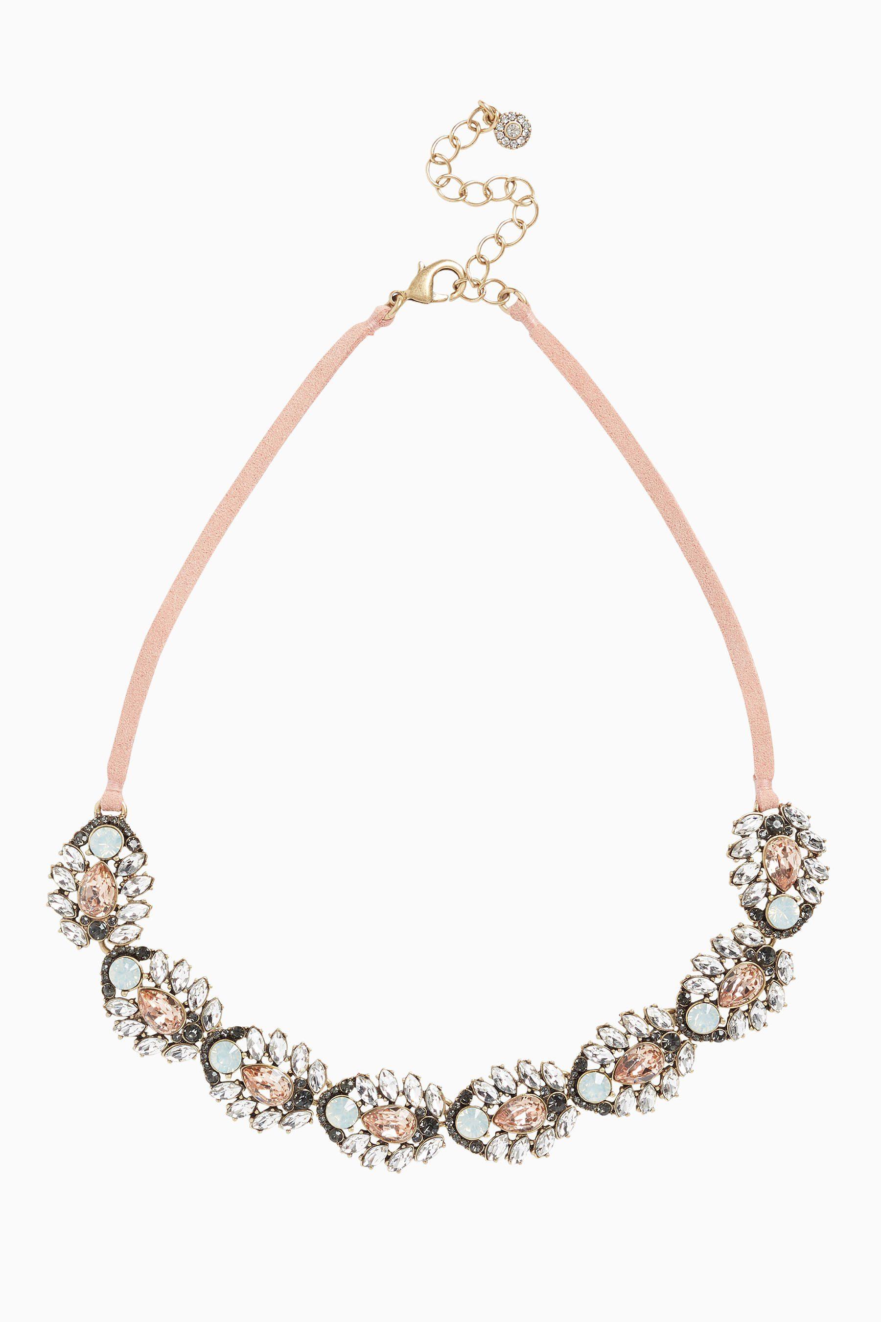 Next Halskette mit Kordeldetail und Ziersteinen