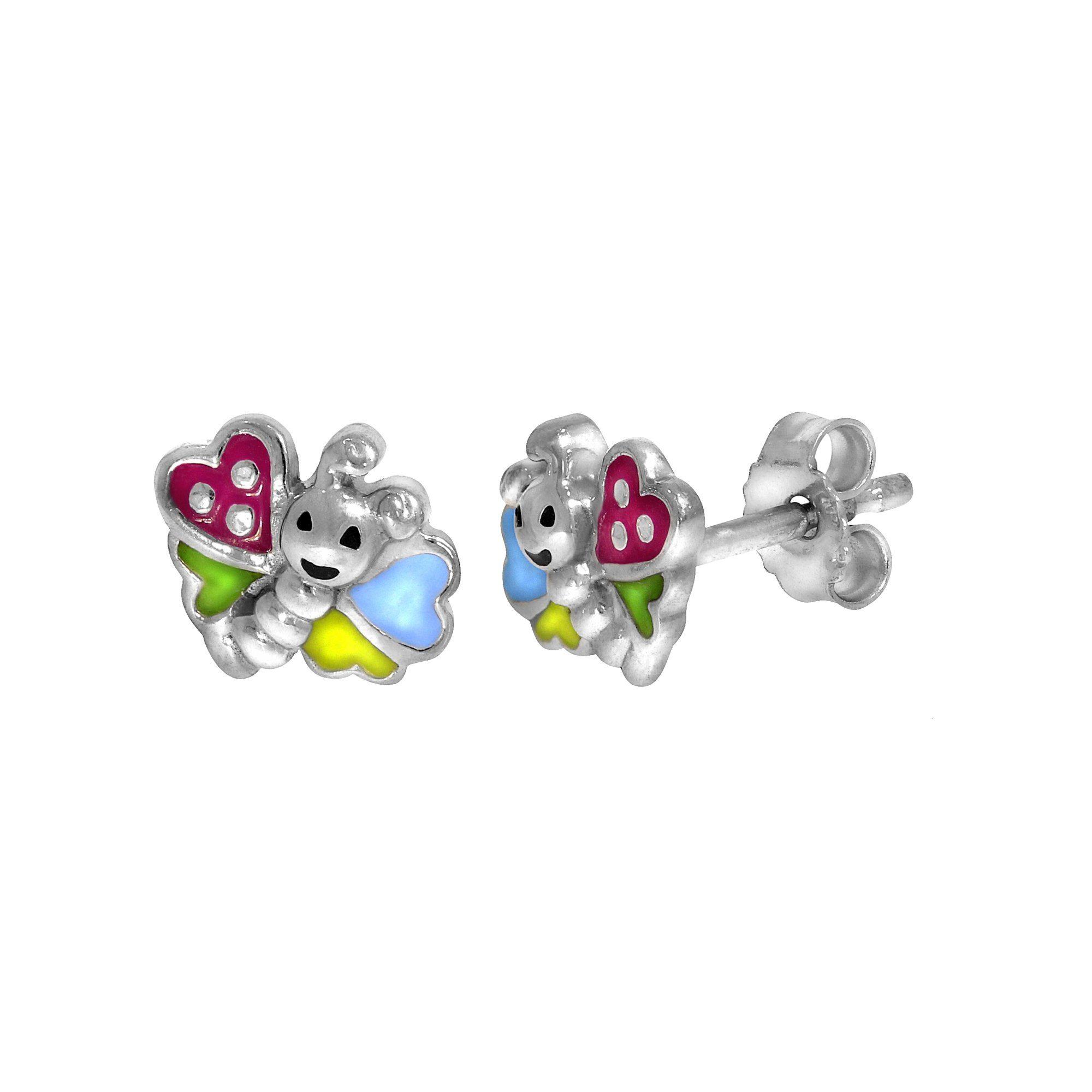 Firetti Ohrstecker 925/- Sterling Silber rhod. Schmetterling