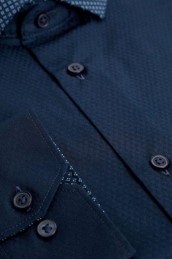 Next Strukturiertes Regular-Fit Hemd mit Kontrastkragen