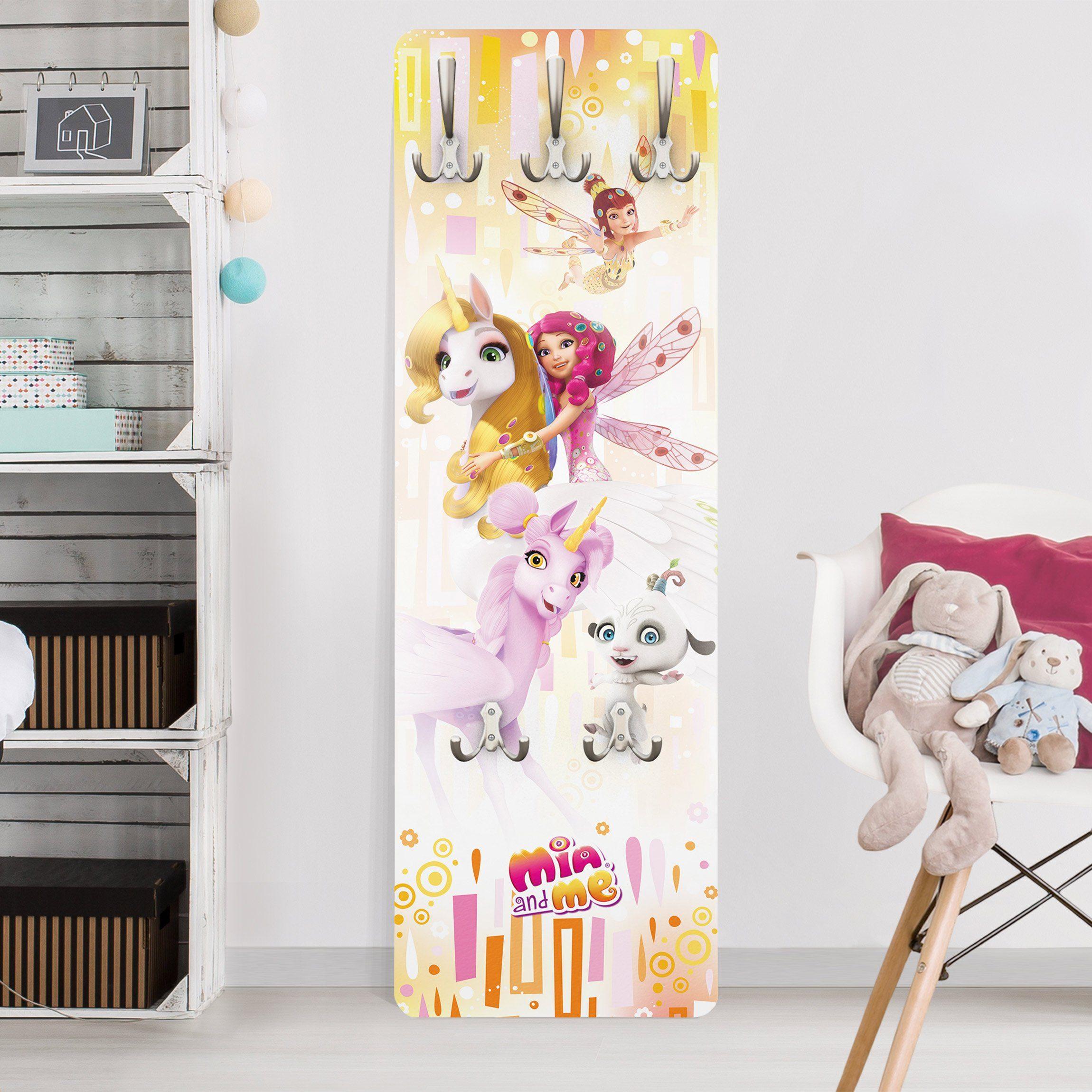 Bilderwelten Wandgarderobe »Mia and Me - Onchao, Kyara und Freunde«
