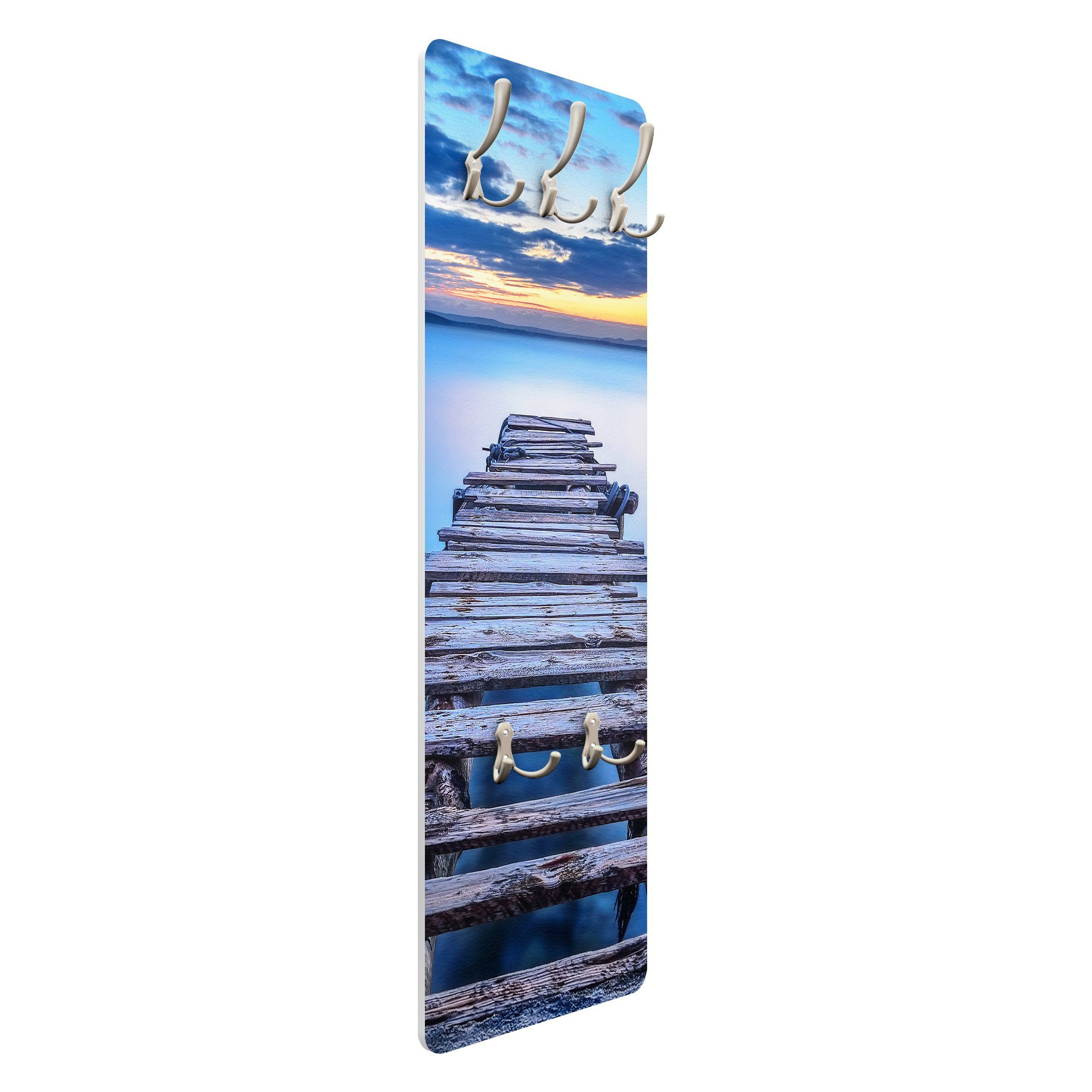 Bilderwelten Wandgarderobe »Steg ins ruhige Meer«