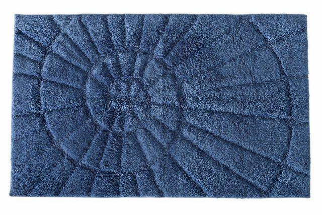 heine home Badgarnitur mit Hoch-Tief-Effekt in Muschelform   Bad > Badgarnituren > Badgarnituren-Sets   Blau   Baumwolle   heine home