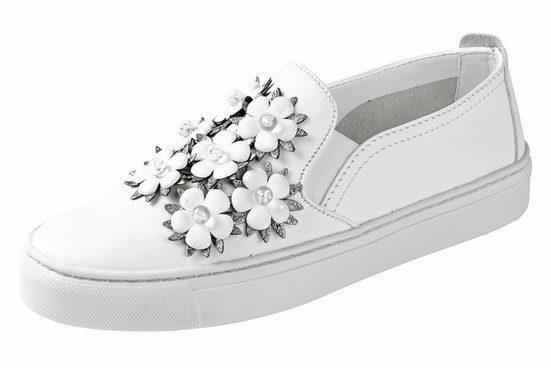 Flexx Slipper mit Blüten-Applikation