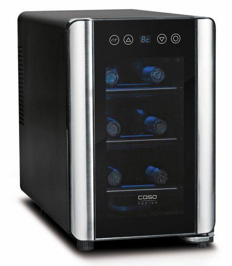 Caso Getränkekühlschrank WineCase 6, 40 cm hoch, 26,50 cm breit