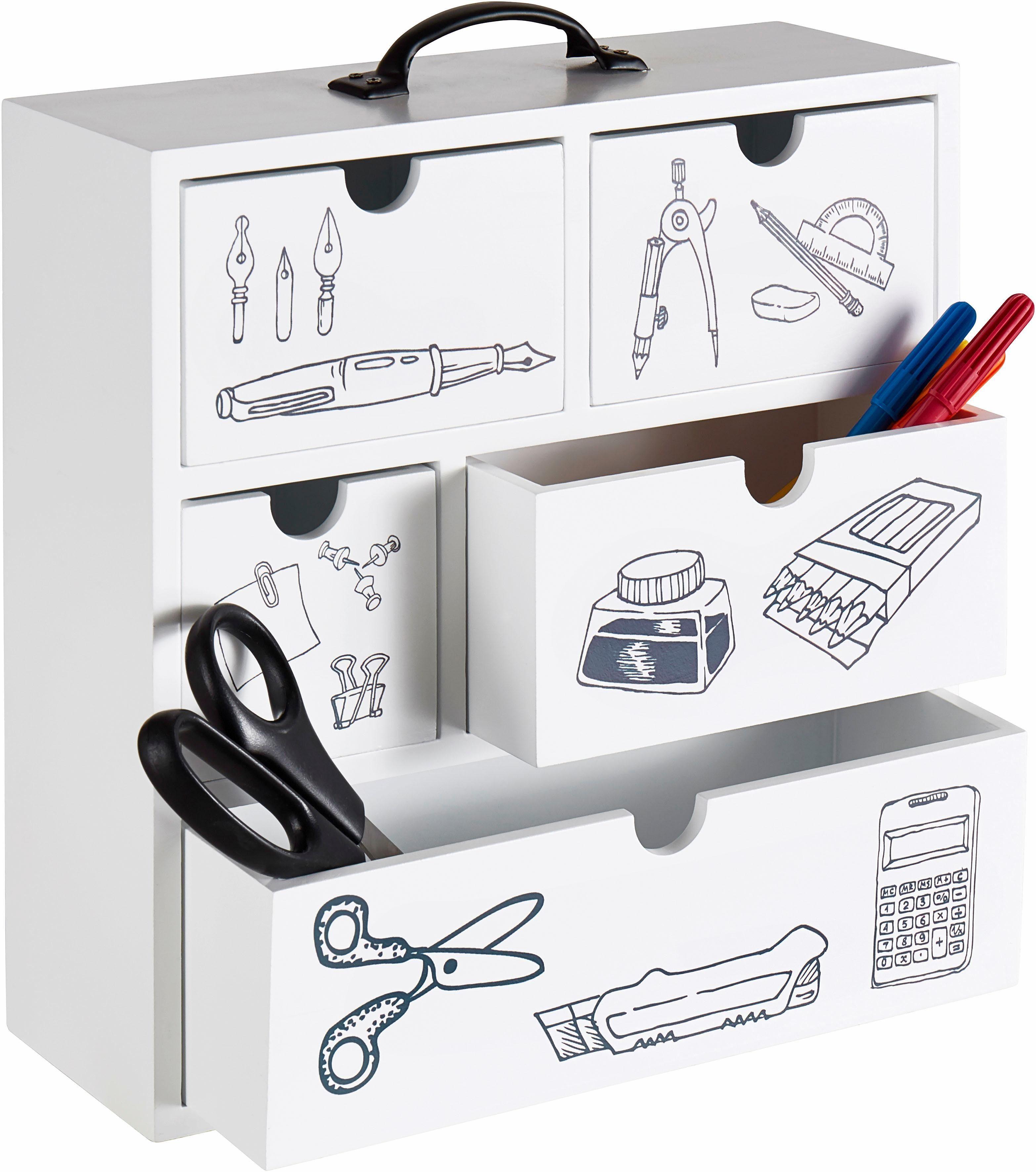 Home affaire Aufbewahrungsbox »Office«, mit 5 Schubkästen