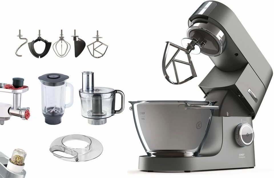 kenwood k chenmaschine chef titanium zubeh rpaket im. Black Bedroom Furniture Sets. Home Design Ideas