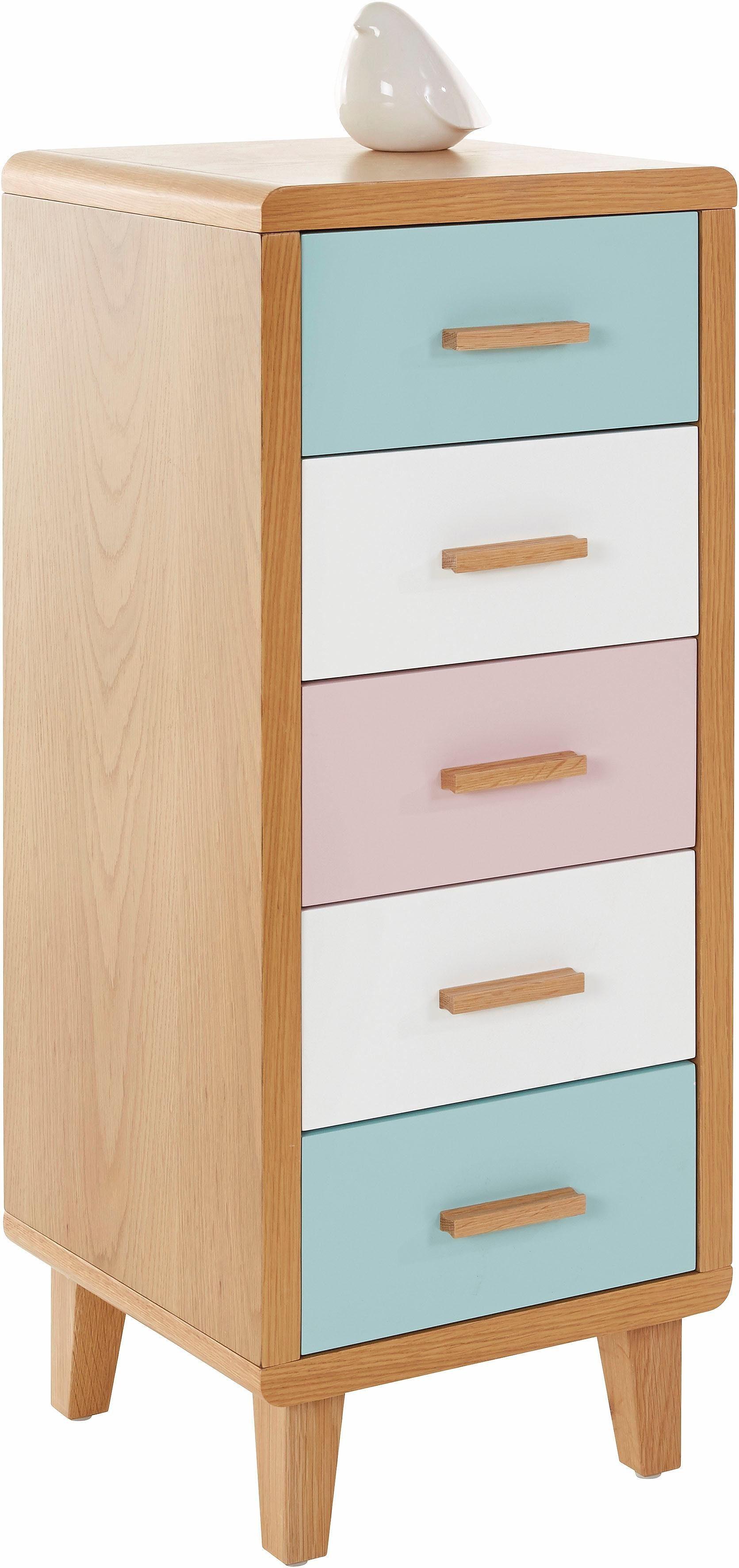 Home affaire Kommode mit pastellfarbenen Fronten, Höhe 96 cm