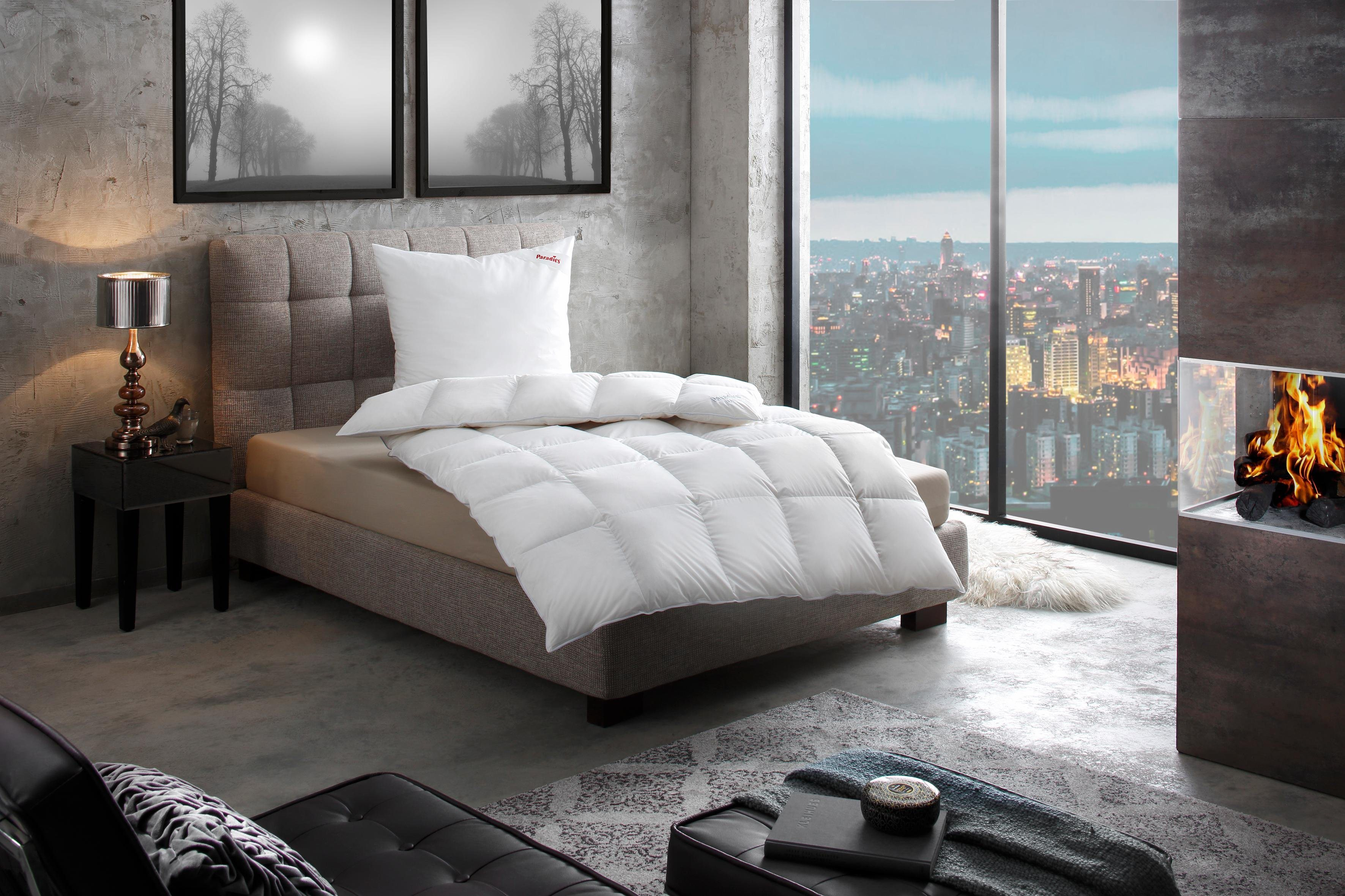 Daunenbettdecke, »Adela«, Paradies, extrawarm, Füllung: 100% Entendaunen, Bezug: 100% Baumwolle, (1-tlg) | Heimtextilien > Decken und Kissen > Bettdecken | Paradies