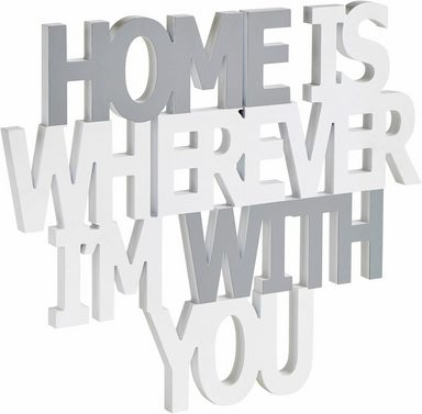 Home affaire wanddeko spruch home is wherever i m with - Wanddeko for you ...