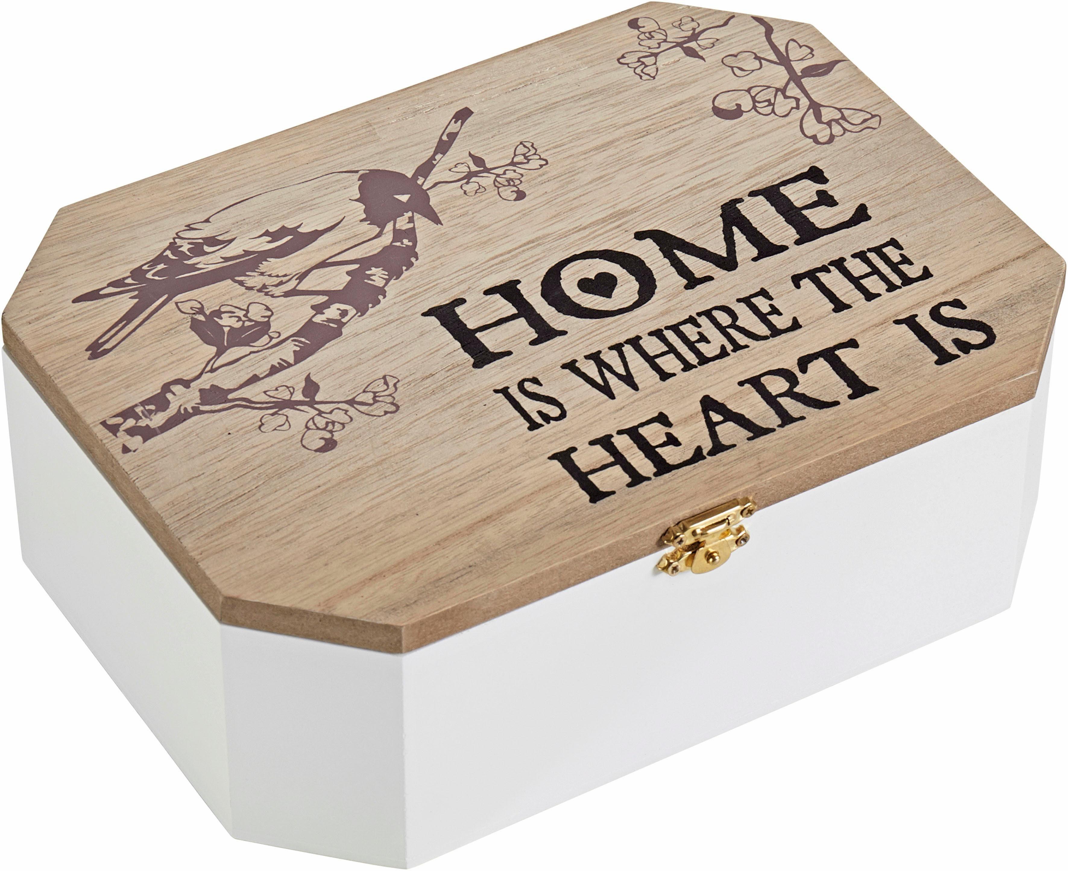 Home affaire Aufbewahrungsbox »Home is where the Heart is«