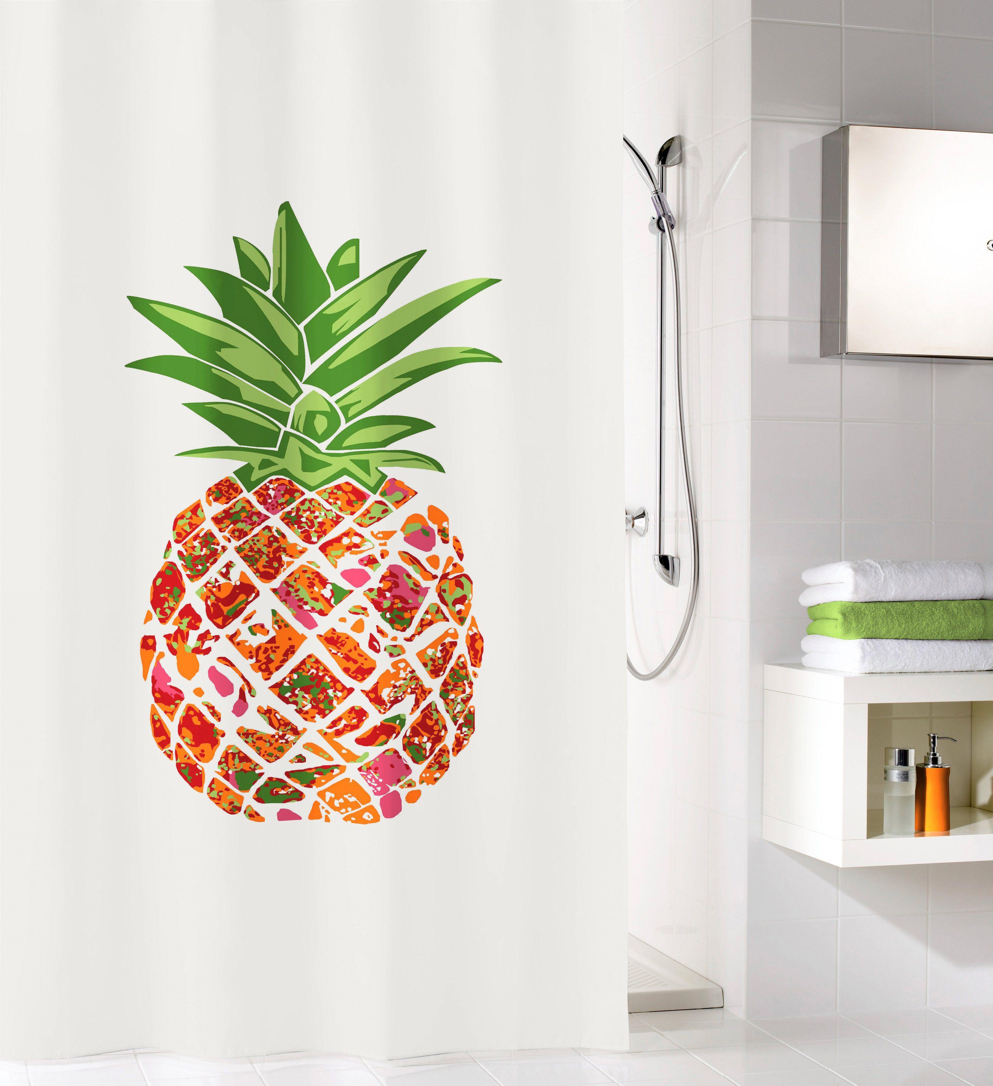 KLEINE WOLKE Duschvorhang »Pineapple«, Breite 180 cm