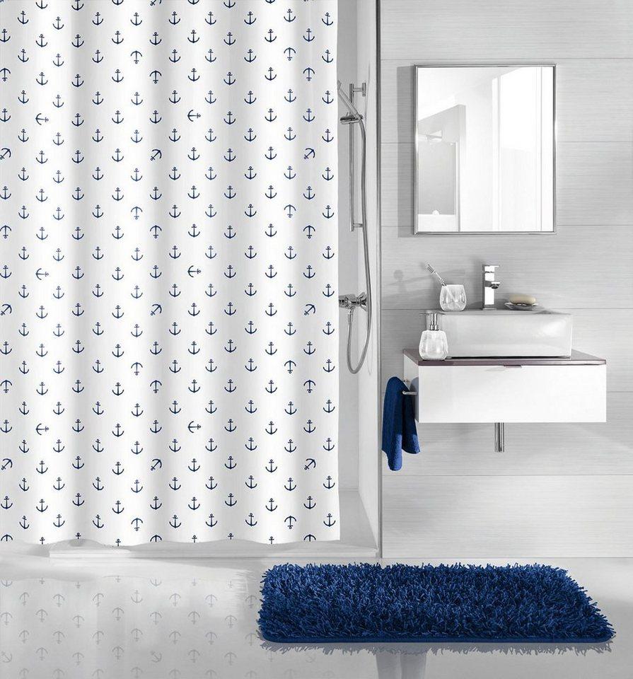 kleine wolke duschvorhang anchor breite 180 cm beschwerdeband im unteren saum online kaufen. Black Bedroom Furniture Sets. Home Design Ideas