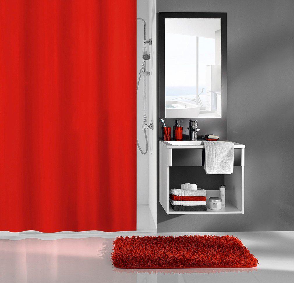 KLEINE WOLKE Duschvorhang »Rot«, Breite 180 cm