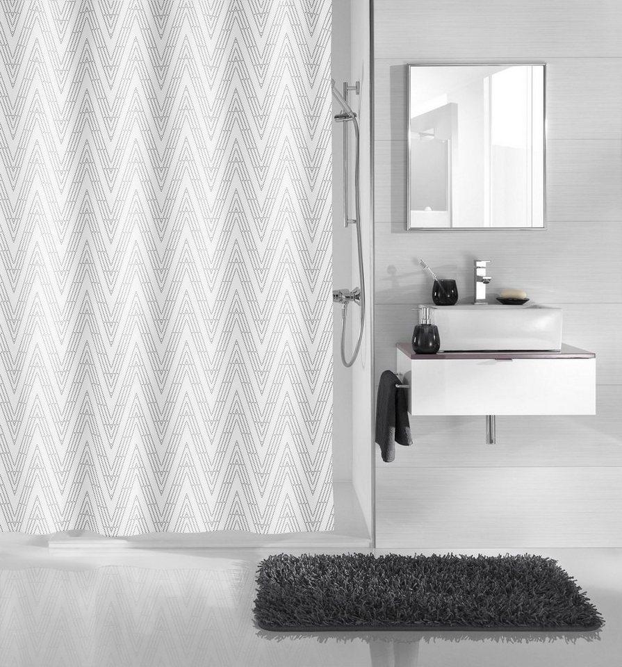 kleine wolke duschvorhang zigzag breite 180 cm otto. Black Bedroom Furniture Sets. Home Design Ideas