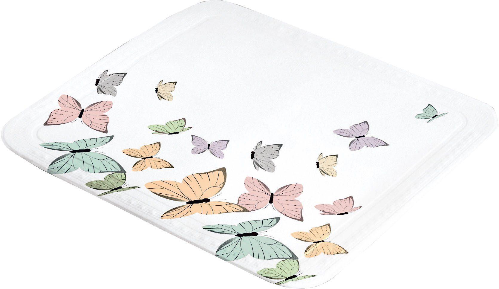 KLEINE WOLKE Duscheinlage »Butterflies«