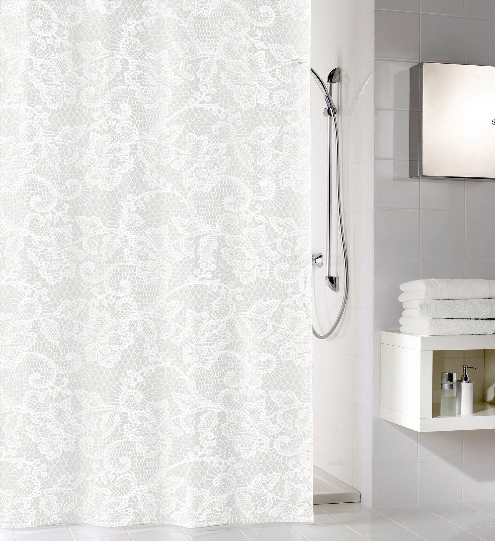 KLEINE WOLKE Duschvorhang »Weiß«