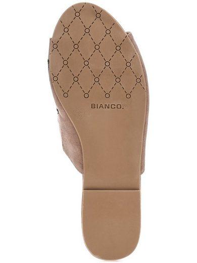 Bianco Blumen-Deko- Sandalen