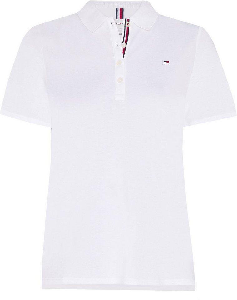 tommy hilfiger curve -  Poloshirt »TH ESSENTIAL REG POLO SS CURVE« mit Tommy Hilfiger Logo-Flag auf der Brust