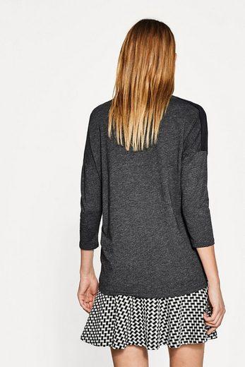 ESPRIT Melange-Shirt mit Schulterpartien aus Mesh